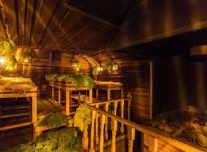 Одноэтажный дом с сауной в Уфе, открытая сауна Уфы